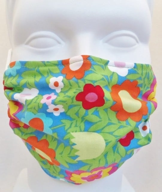 Child Floral Medallions mask