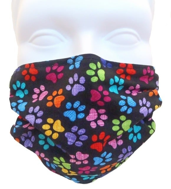 Child Colorful Paws Mask